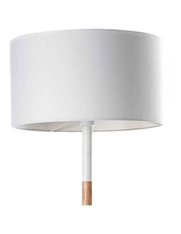 Woodi Floor Lamp - 150cm - White   Oak image 2