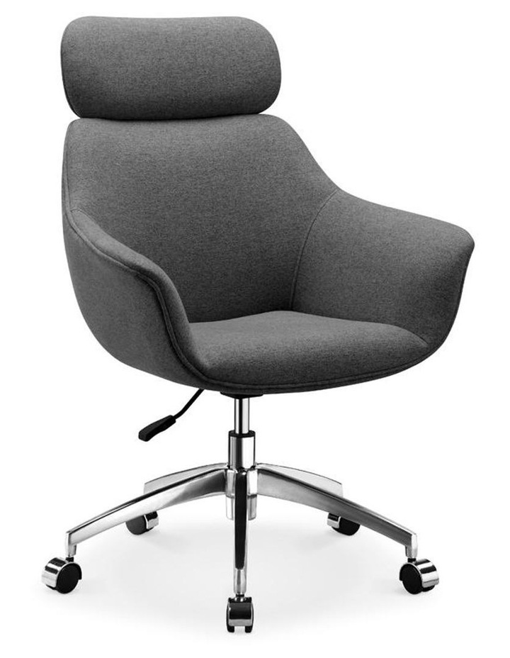 Sable Office Chair with Adjustable Headrest - Grey image 1