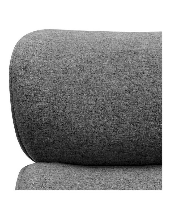 Sable Office Chair with Adjustable Headrest - Grey image 2