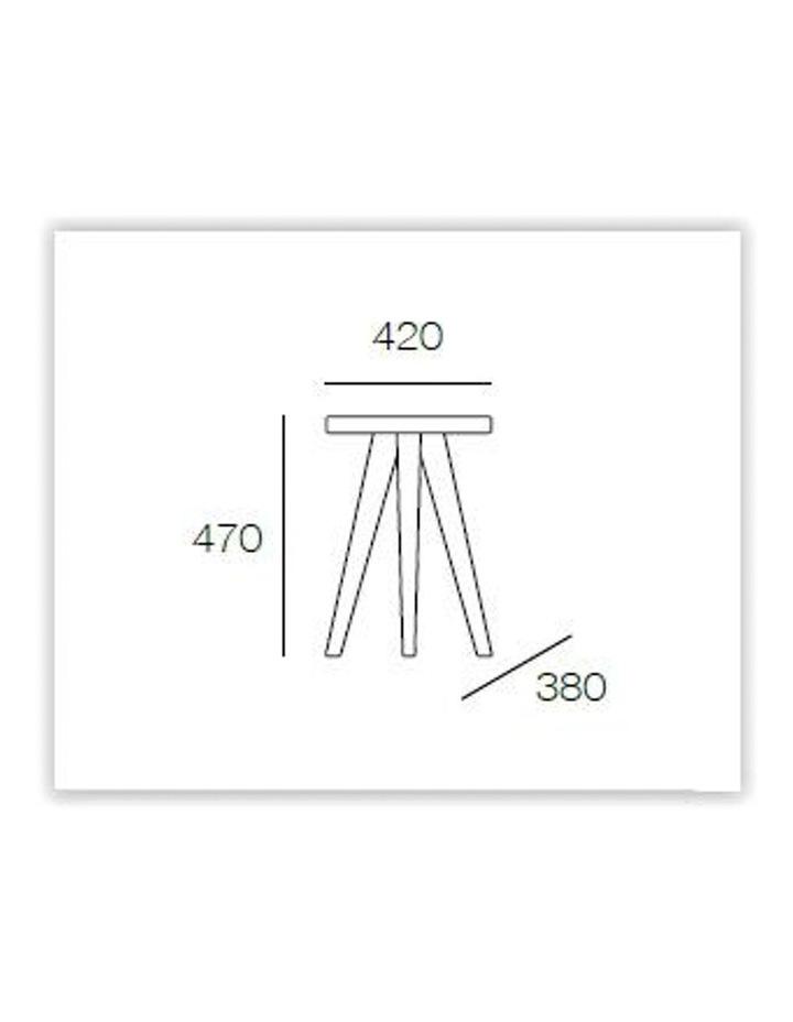 Petite Stool - 47cm - White image 2
