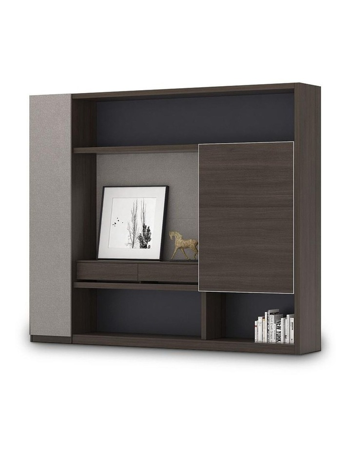 Carter Display Cabinet 2.4M - Coffee & Grey image 1