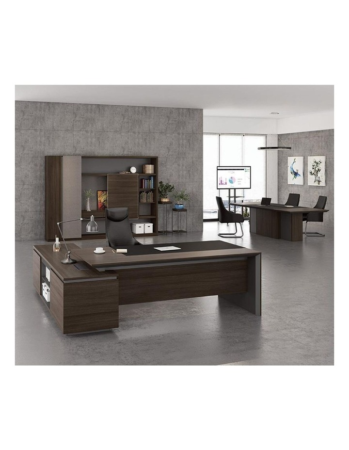 Carter Display Cabinet 2.4M - Coffee & Grey image 2