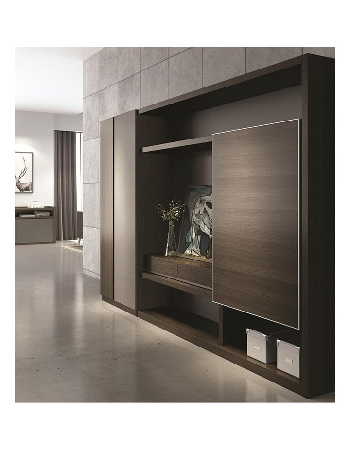 Carter Display Cabinet 2.4M - Coffee & Grey image 3