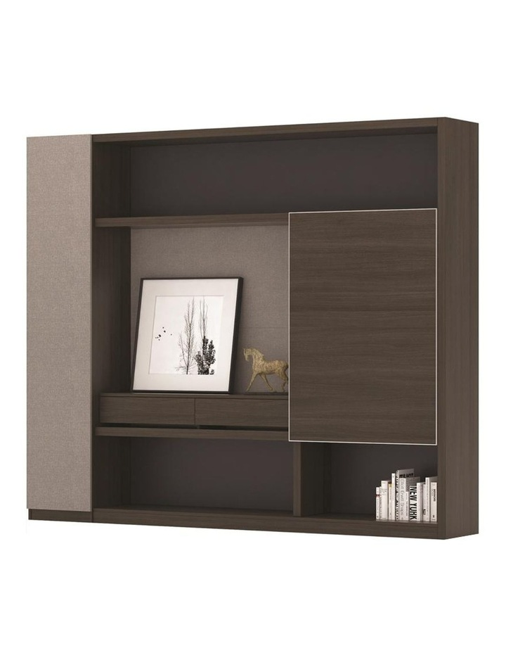 Carter Display Cabinet 2.4M - Coffee & Grey image 4