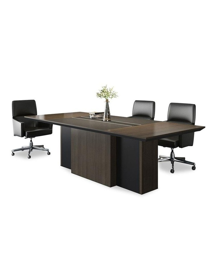 CARTER Boardroom Table  2.4M - Coffee & Charcoal image 1