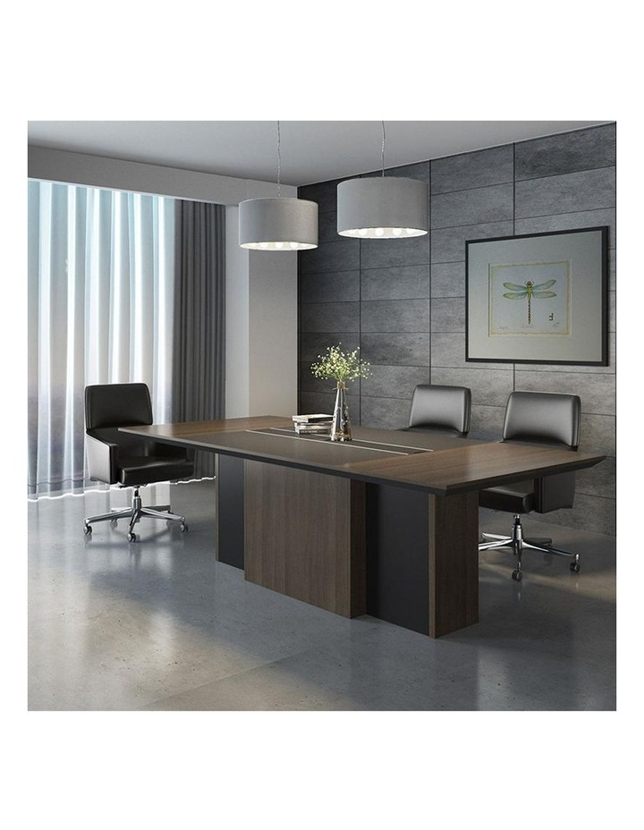 CARTER Boardroom Table  2.4M - Coffee & Charcoal image 2