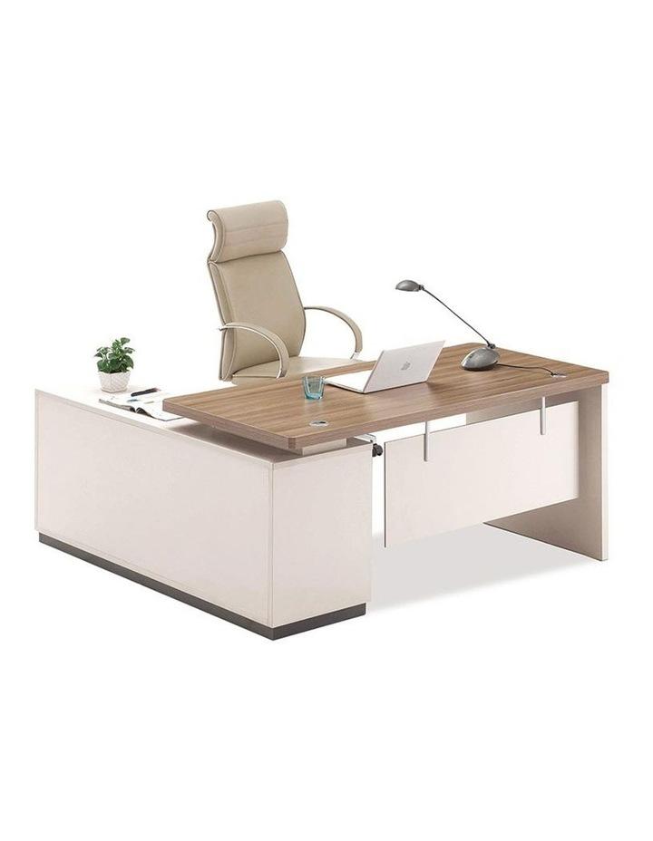 Wilder Executive Office Desk with Right Return 1.8M - Light Walnut image 1