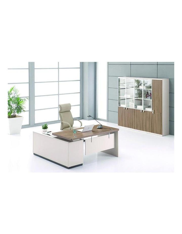 Wilder Executive Office Desk with Right Return 1.8M - Light Walnut image 2