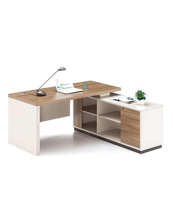 Wilder Executive Office Desk with Right Return 1.8M - Light Walnut image 3