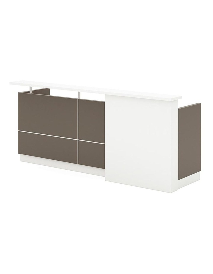 Sawyer Reception Desk 2.4M - Brown Grey image 1