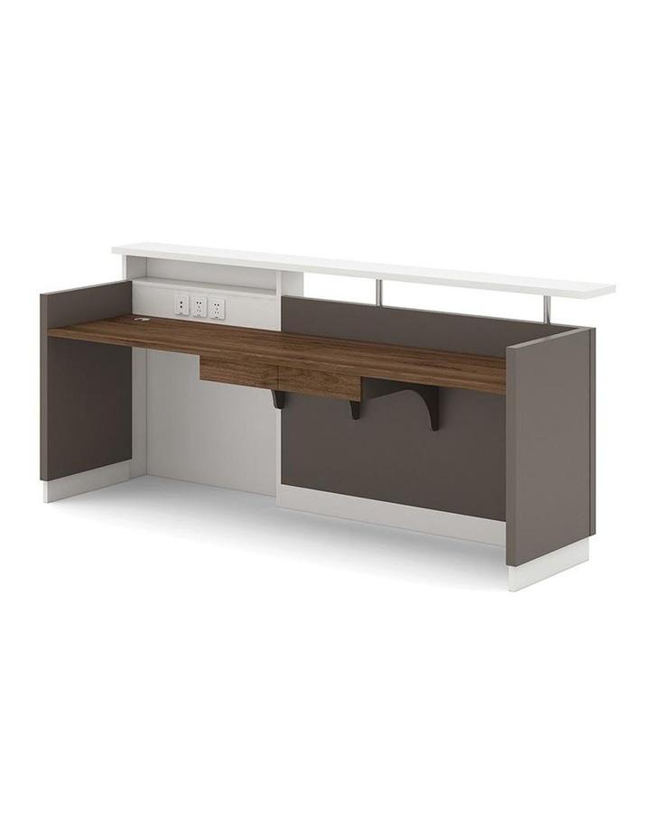 Sawyer Reception Desk 2.4M - Brown Grey image 2