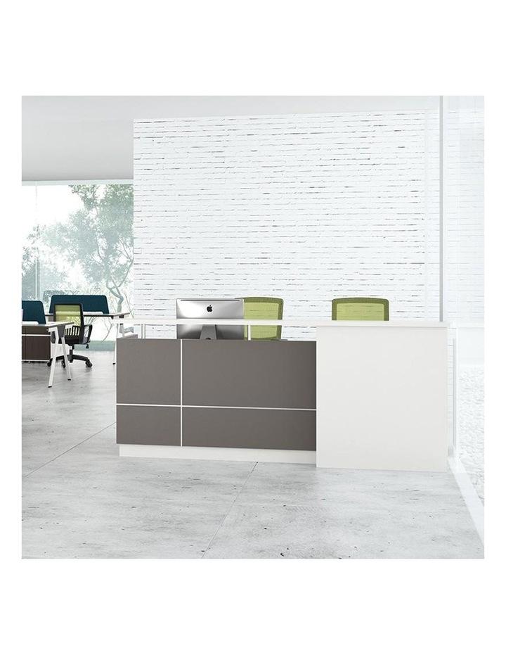 Sawyer Reception Desk 2.4M - Brown Grey image 3