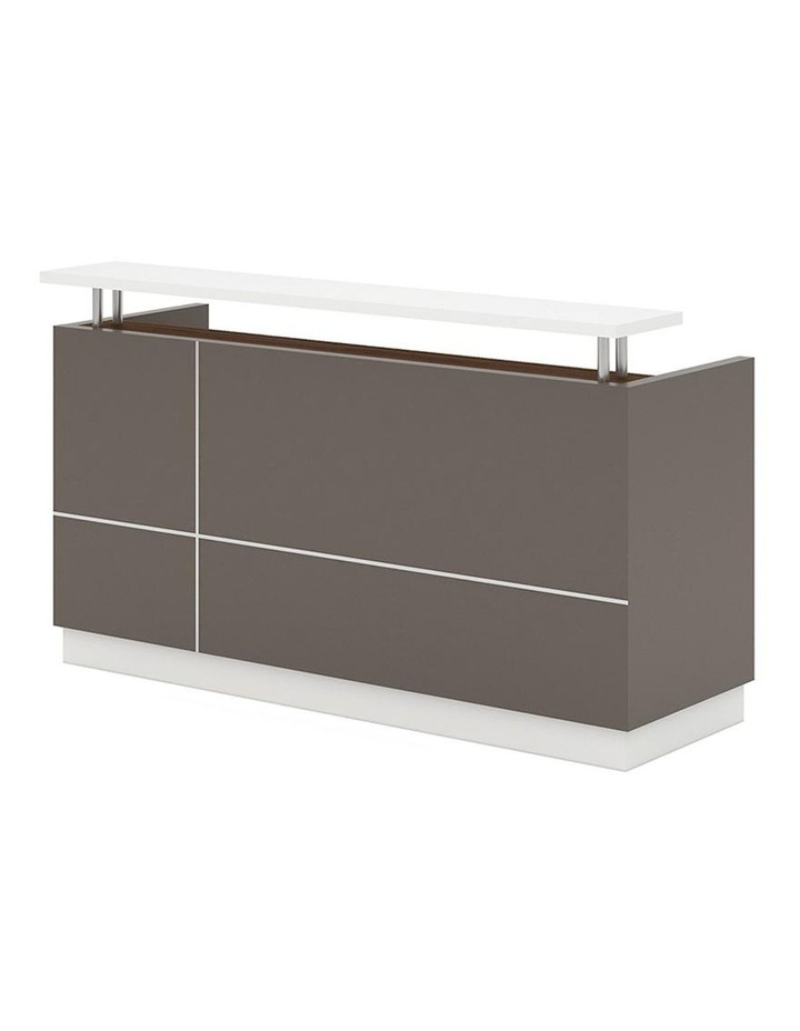 Amias Reception Desk  1.8M - Brown Grey image 1