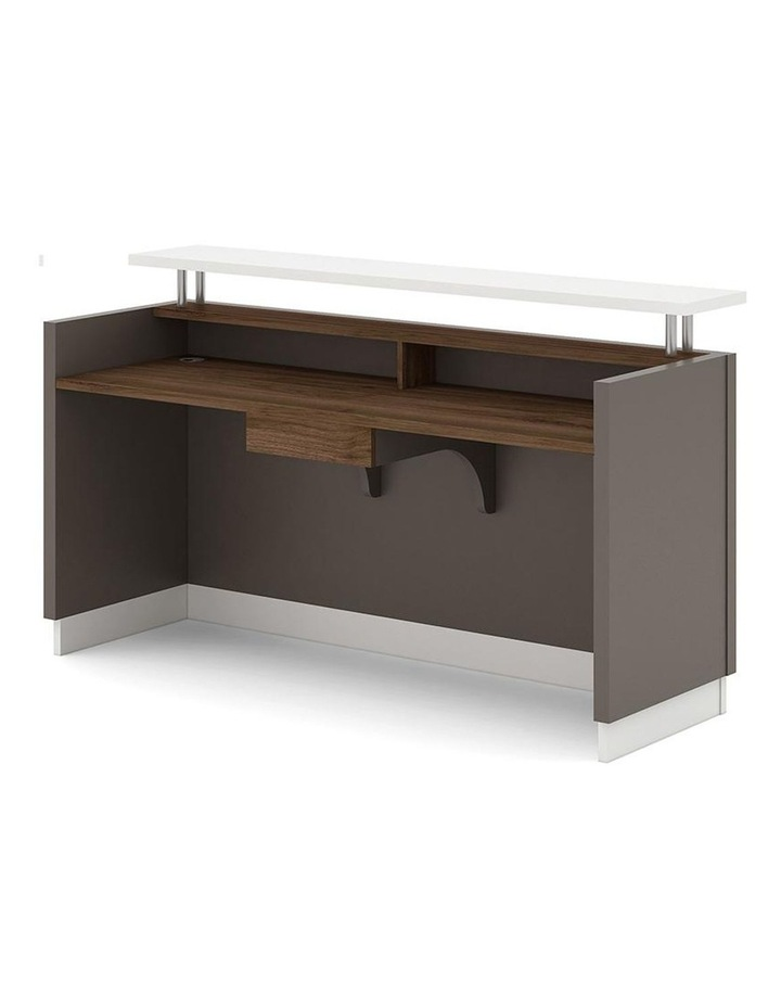 Amias Reception Desk  1.8M - Brown Grey image 2
