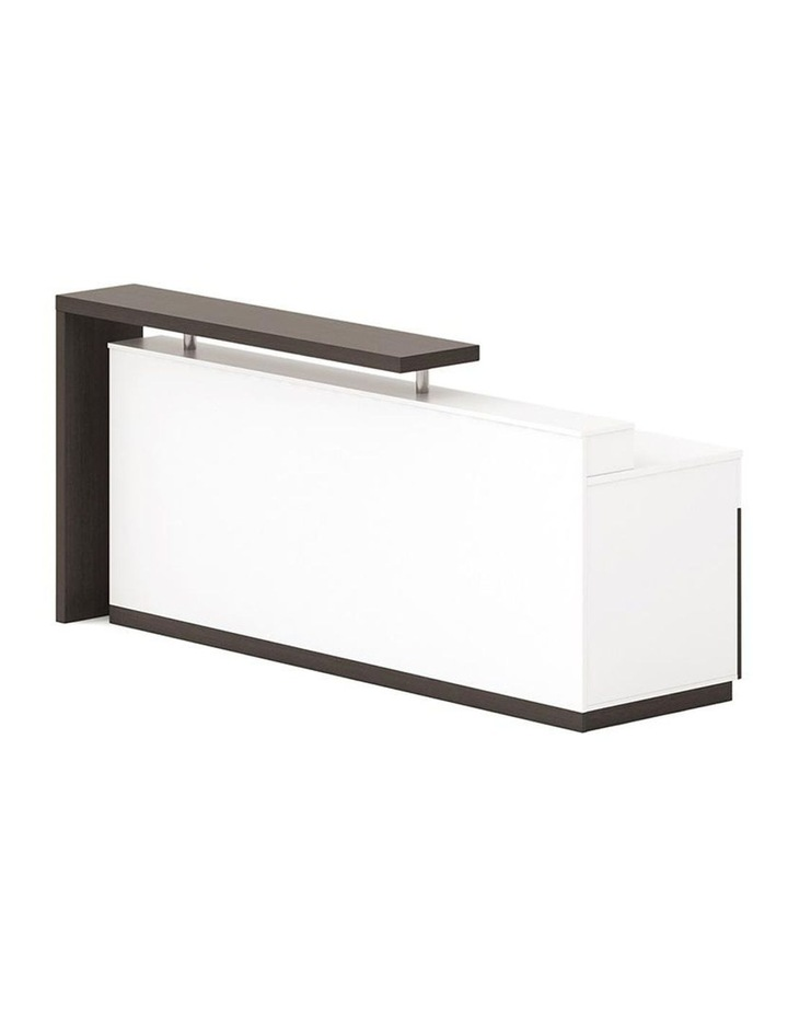 Jett Reception Desk  with Cabinets 1.8M - White & Black image 1