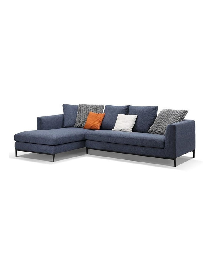 Leland 3 Seater with Left Chaise - Blue image 1