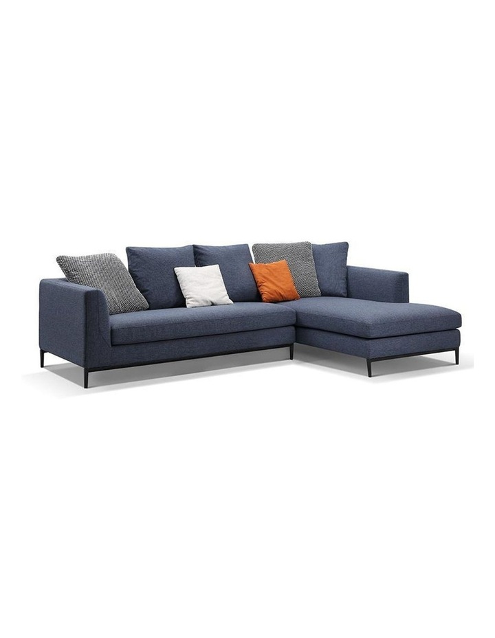 Leland 3 Seater with Right Chaise - Blue image 1