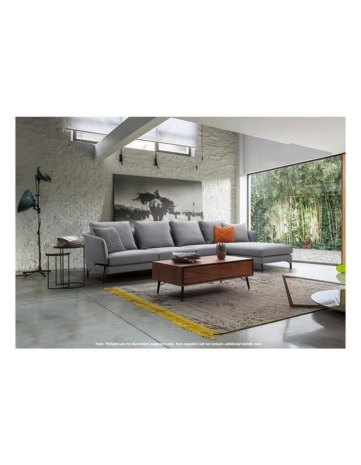 DAKOTA 3 Seater with Right Chaise - Light Grey image 5