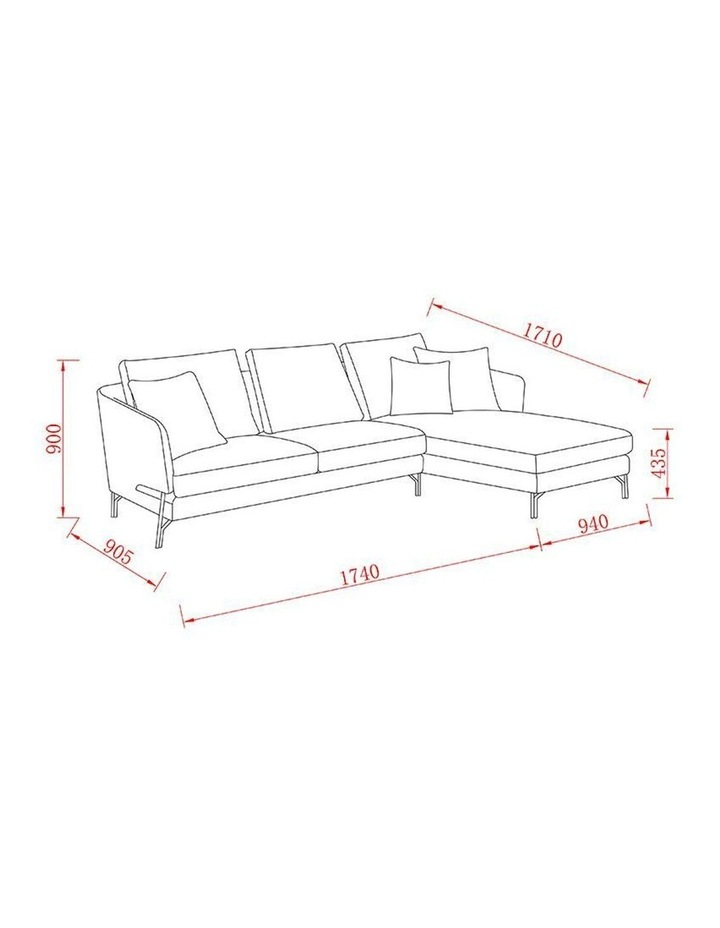 DAKOTA 3 Seater with Right Chaise - Light Grey image 6