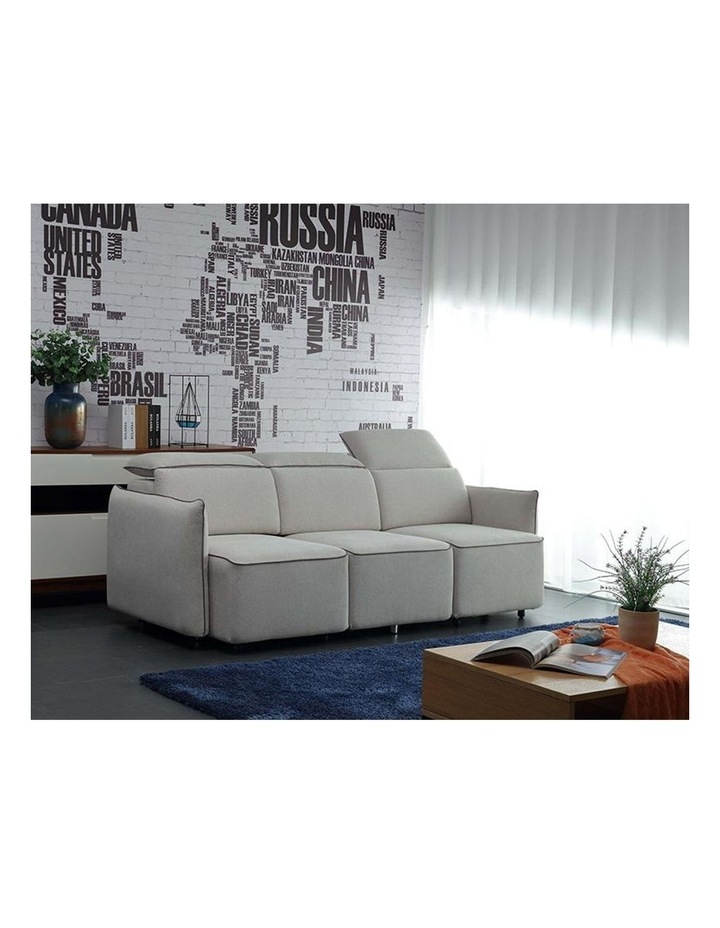 EMORY 3 Seater Sofa with Retractable Chaises - Ivory image 3
