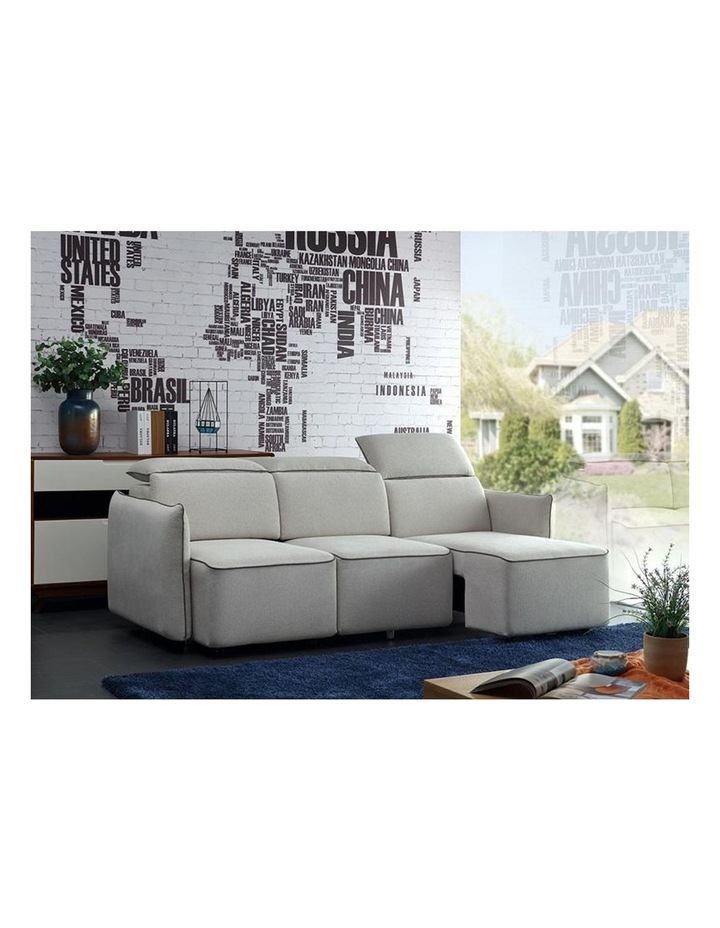 EMORY 3 Seater Sofa with Retractable Chaises - Ivory image 4