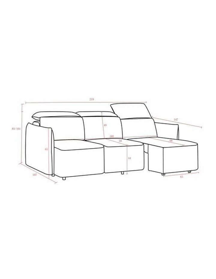 EMORY 3 Seater Sofa with Retractable Chaises - Ivory image 7