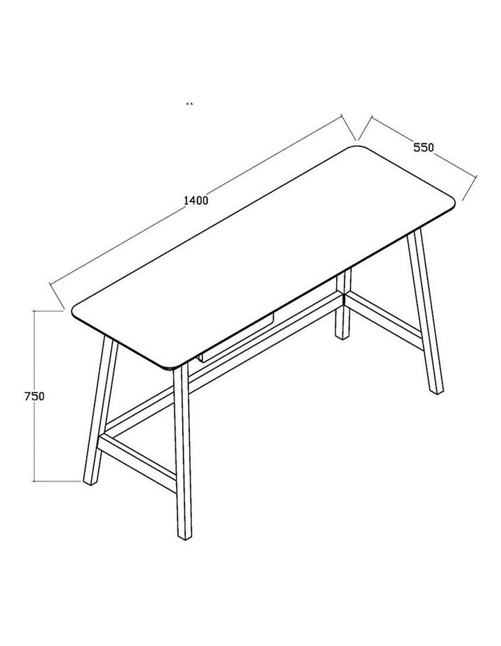 Katon Computer Desk - 140cm -  Matt White   Black Oak image 4