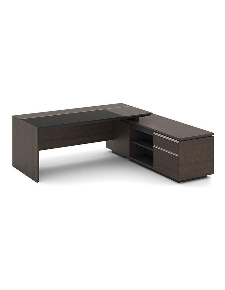 Carter Executive Office Desk with Right Return 2.2M - Coffee & Charcoal image 3