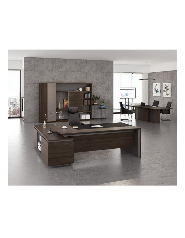 Carter Executive Office Desk with Right Return 2.2M - Coffee & Charcoal image 5