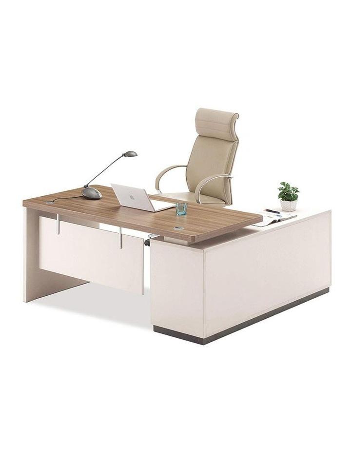 Wilder Executive Office Desk with Left Return 1.8M - Light Walnut image 1