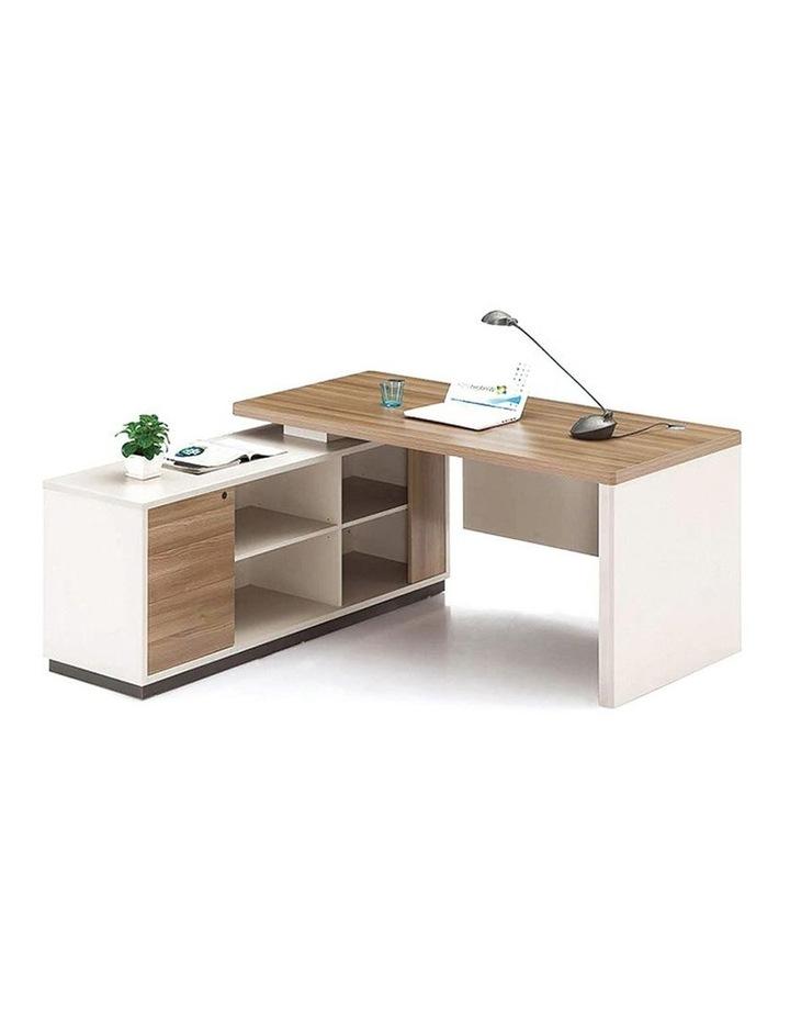 Wilder Executive Office Desk with Left Return 1.8M - Light Walnut image 2