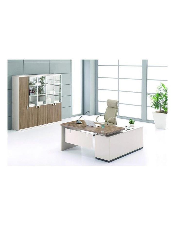 Wilder Executive Office Desk with Left Return 1.8M - Light Walnut image 3