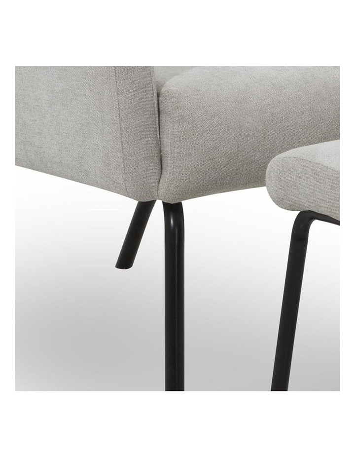 FOXTON Leisure Chair with Ottoman - Grey image 3