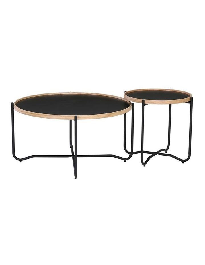 TANIX Coffee Table - Round - Black image 4