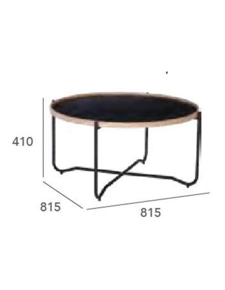 TANIX Coffee Table - Round - Black image 5