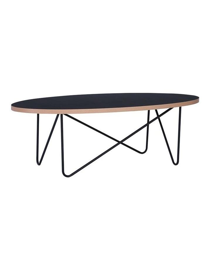 NARESH Coffee Table - Oval - Black image 1