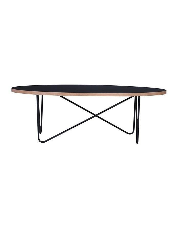 NARESH Coffee Table - Oval - Black image 2