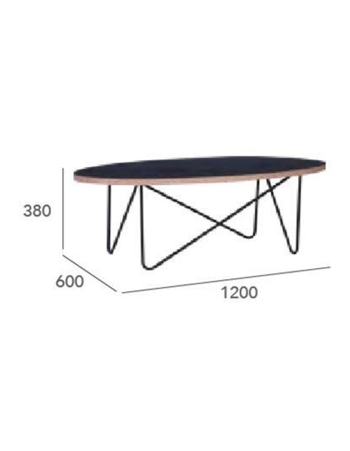 NARESH Coffee Table - Oval - Black image 7