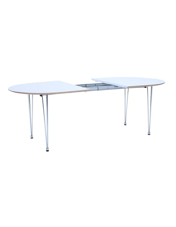 OMEO Dining Table Extendable - 170cm - White image 4