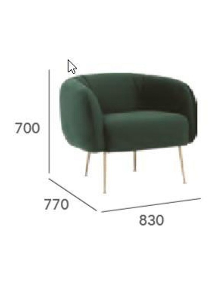 ALERO Single Seater Sofa - Midnight Blue image 6