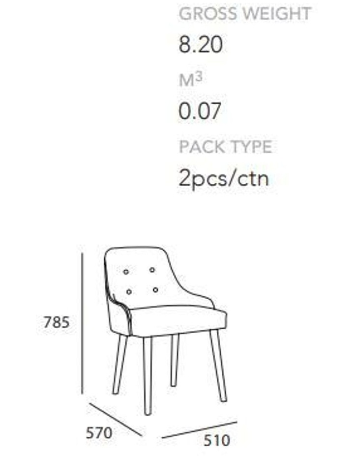 CAITLIN Dining Chair - Pale Blue image 4