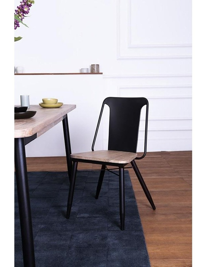 BINDER Dining Chair Solid Wood - Taupe image 4
