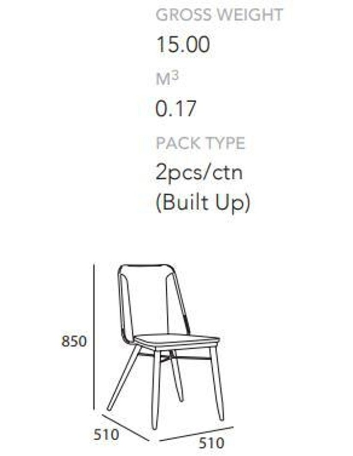 BINDER Dining Chair Solid Wood - Taupe image 5