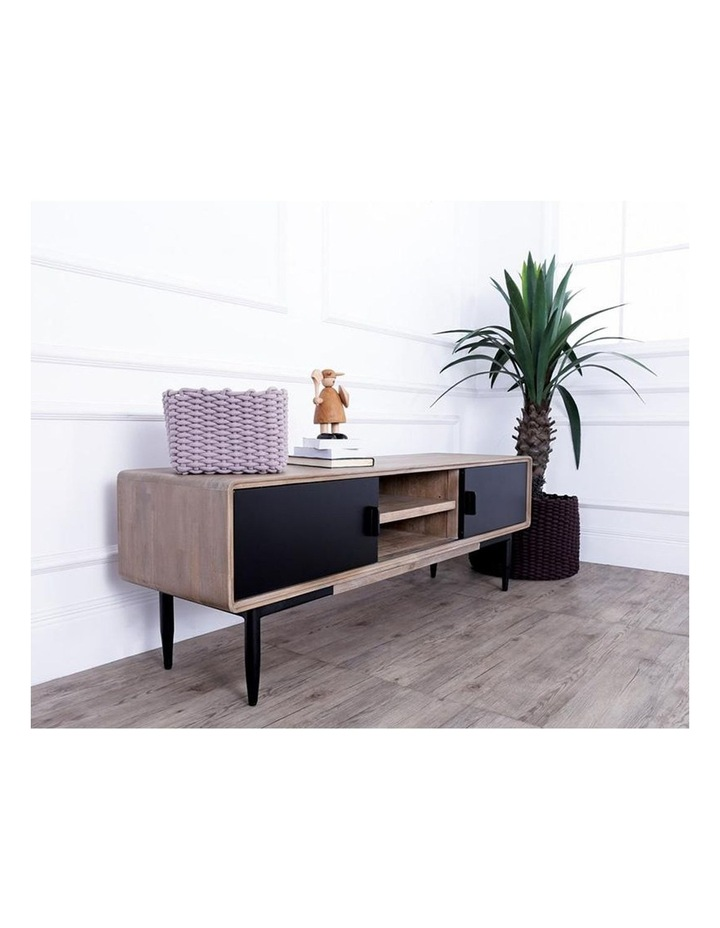 BINDER TV Entertainment Unit 2.0M Solid Wood - Taupe image 3