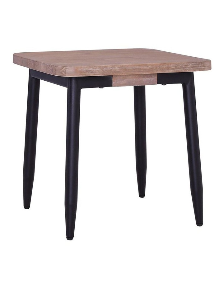 BINDER Side Table 50cm Solid Wood - Taupe image 1