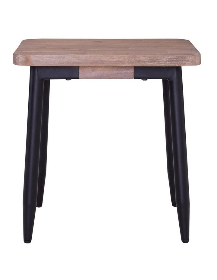 BINDER Side Table 50cm Solid Wood - Taupe image 2