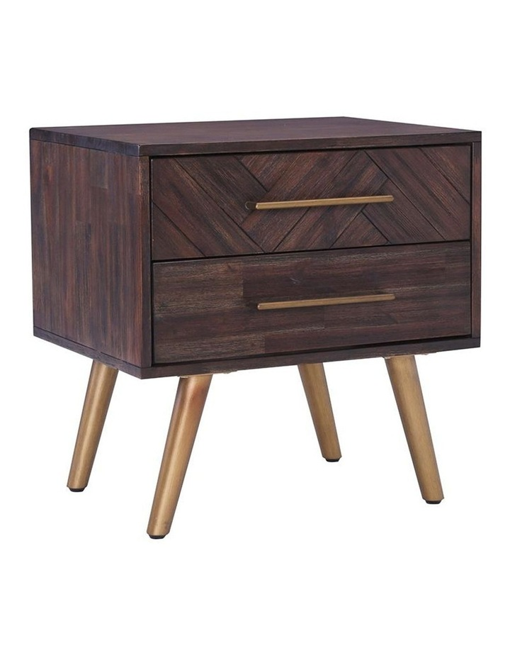 SIVAN Bedside Table 50cm Acacia Solid Wood - Brown image 1