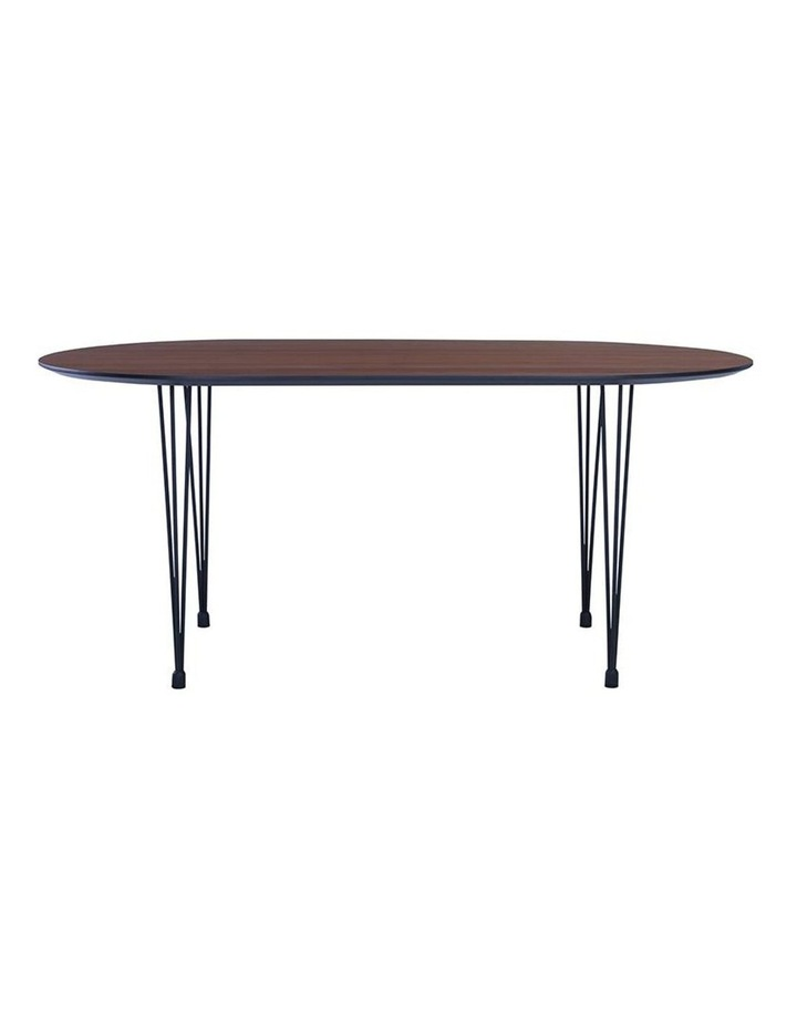 Omeo Dining Table 1.7M - Walnut/Blk image 1