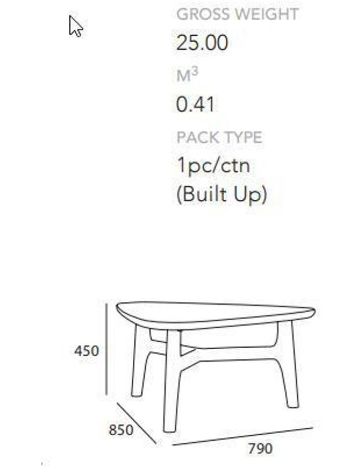 CORBIN Coffee Table Solid Wood - Havana Sandblast Colour image 4