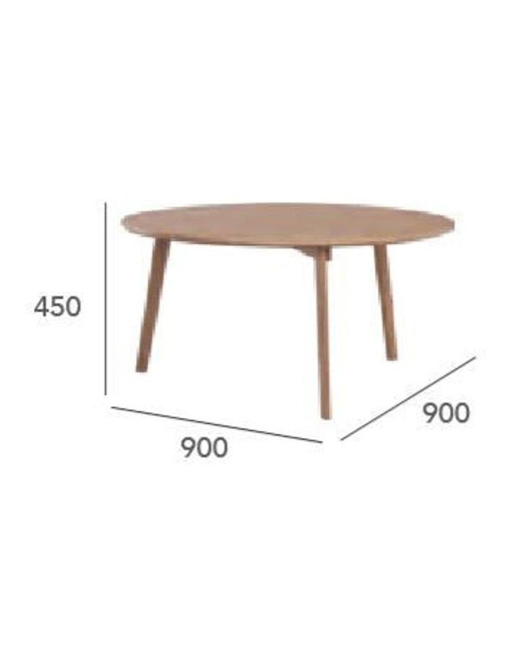 Oriel Coffee Table Round 90cm - Oak image 4